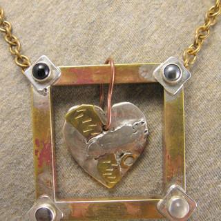 Framed Heart Necklace