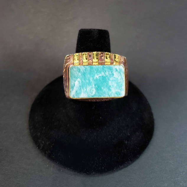 Julie Shaw Amazonite Ring