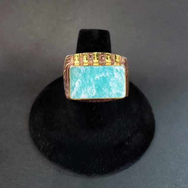Julie Shaw Amazonite Ring
