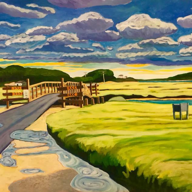Joanne Bergen,  Road to the Island, oil o