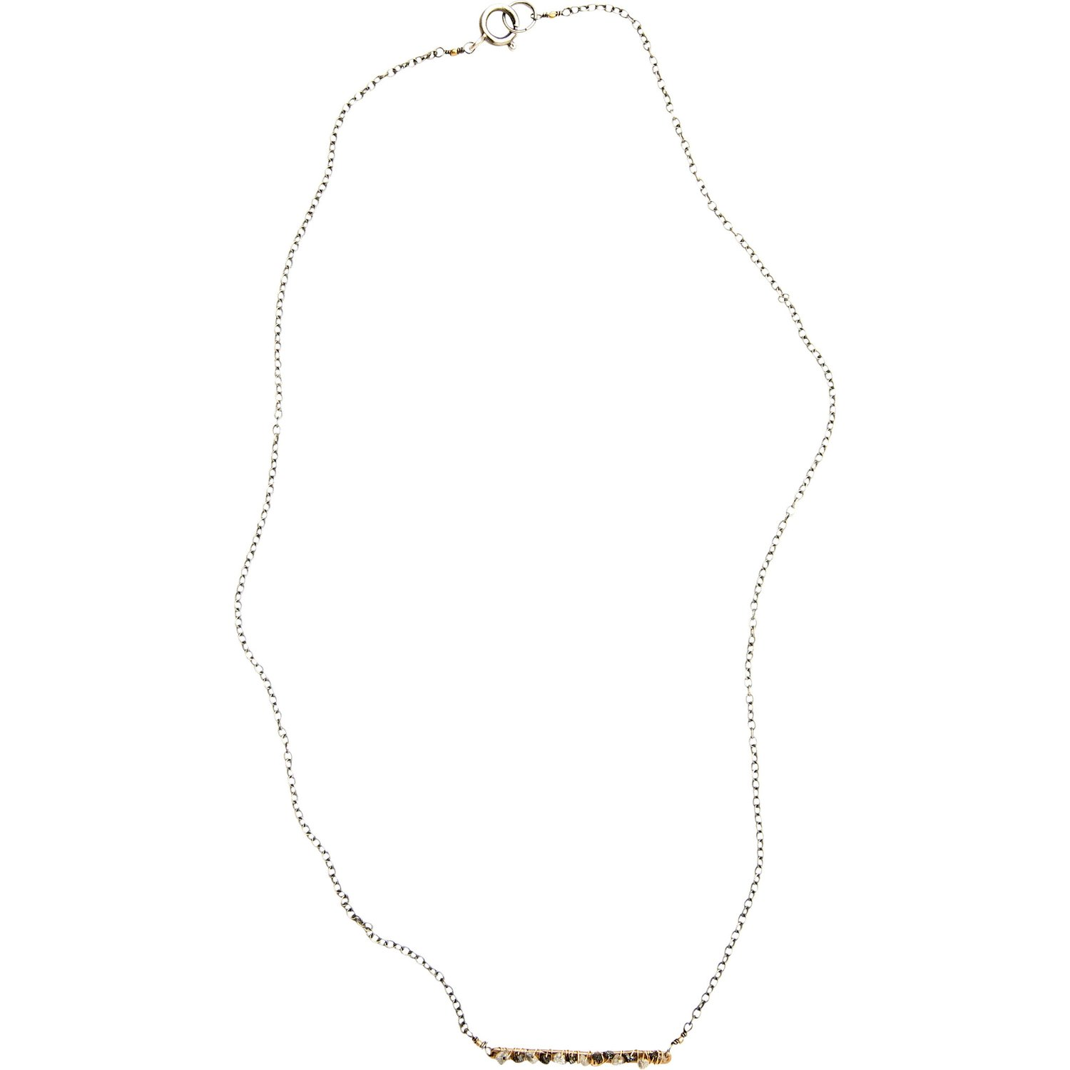 Raw Diamond stick necklace