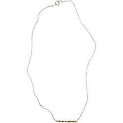 Raw Diamond stick necklace