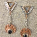 Robin Lee Becker  Triangle drop earrings