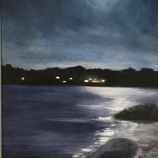 Cynthia Woehrle Moon Over the Cove