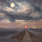 Cynthia Woehrle Full Moon and Distant Li