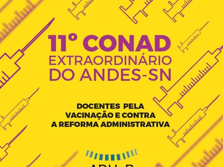 11º CONAD: docentes priorizam a mobilização contra a Reforma Administrativa e pela vacinação
