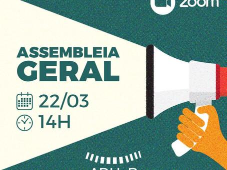 Assembleia Geral Extraordinária acontecerá na próxima segunda-feira (22)