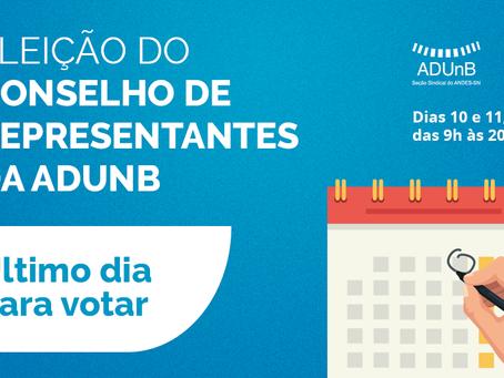 Eleição do CR: vote até às 20h.