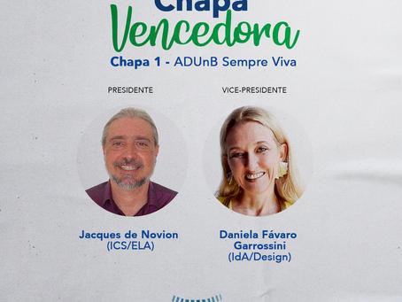 Chapa 1 (ADUnB Sempre Viva) é eleita para a diretoria no biênio 2020-2022
