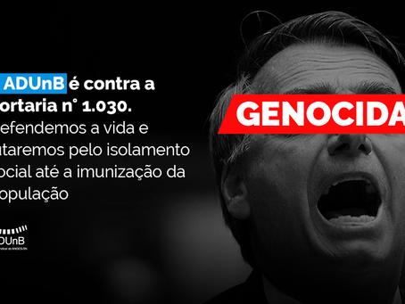 Retorno presencial: não aceitaremos política genocida