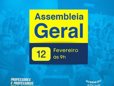 ADUnB convoca associados(as) para Assembleia Geral Virtual no dia 12/2