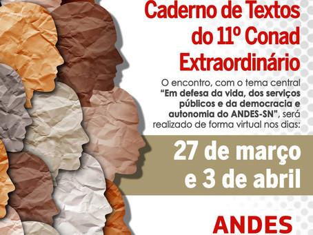11º CONAD Extraordinário acontece nos dias 27 de março e 3 de abril