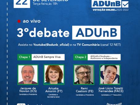 Último debate para a Eleição da ADUnB acontece na terça-feira (22)