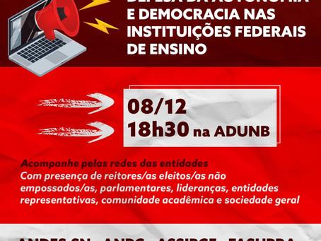 Entidades da educação se mobilizam pela autonomia universitária e contra a Reforma Administrativa