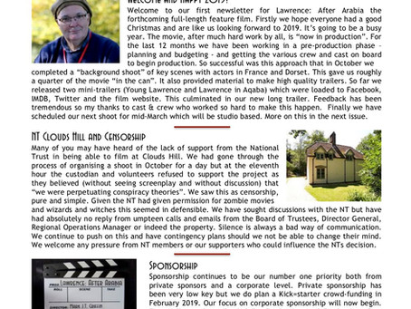 Lawrence: After Arabia - Newsletter 1