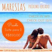PACOTE PRÓXIMO FERIADO  #Maresias #Feriado #Praia #Natureza #Descanso