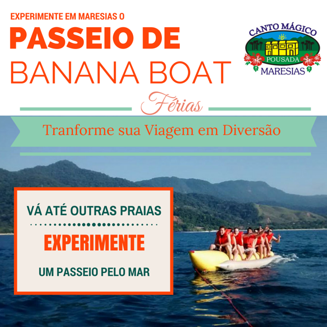 Conheça os Passeios de Banana Boat Maresias Com 2 opções diferentes você pode tornar sua viagem um m