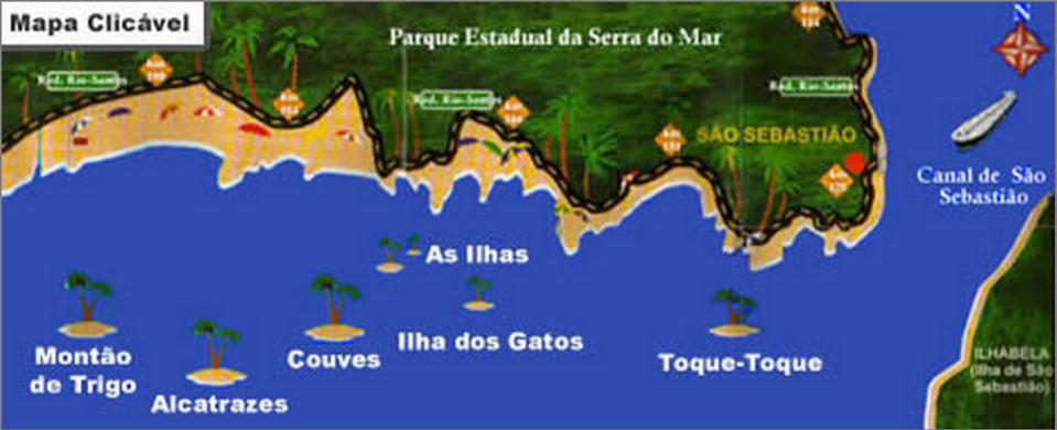 Ilhas em São Sebastião