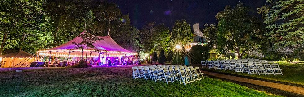Wedding reception tent at Clay Hill Farm
