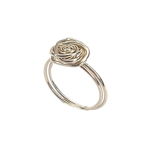 טבעת שושנה כסף