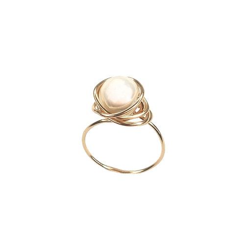 טבעת פנינה מעטפת גולדפילד