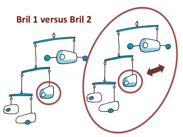 Bril 1 versus Bril 2