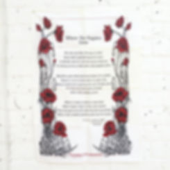 Where Poppies Grow-final screen printed tea towel
