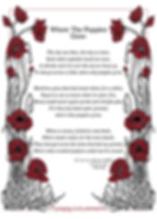 design mock up for the Poppy tea towel design