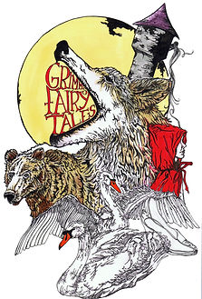 grimm's fairy tales book cover design