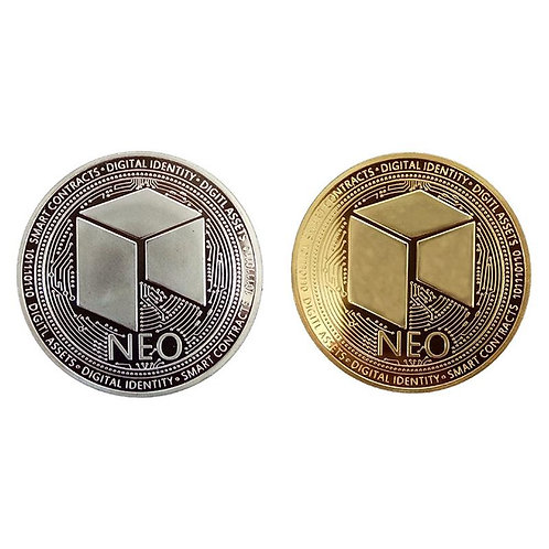 NEO Metal Commemorative Coin | Gold and Silver | Cryptocurrency | Blockchain