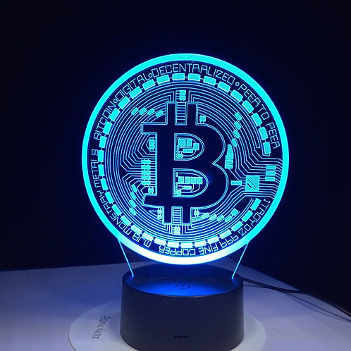 3D LED Bitcoin Lamp  | Neon Sign | Night Light | 7 Colors USB Desk Lamp