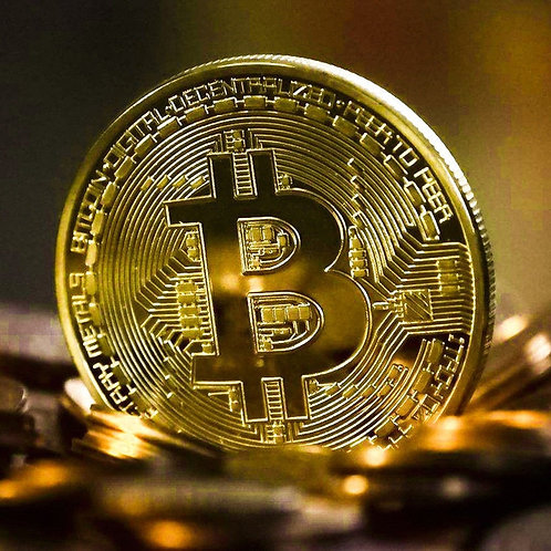 Gold Plated Bitcoin Coin | Collectible | Gift Physical | Commemorative Coin