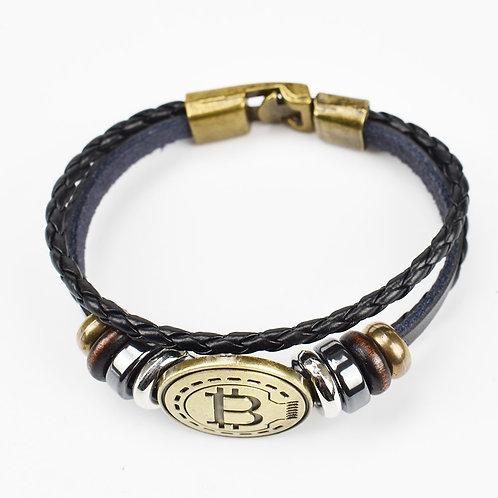 Antique Color Bitcoin Bracelet | Handmade Fashion | Chique Style | Metal