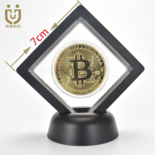 Gold/Silver Plated Bitcoin With Plastic Case | Ripple Litecoin Ethereum Dash
