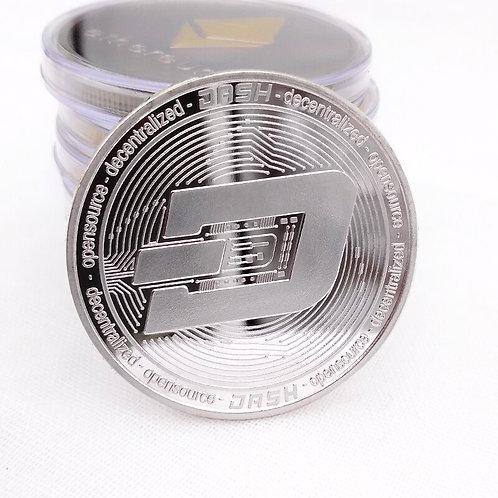 DASH Non-Currency Coin | Gold & Silber Plated Dashcoin