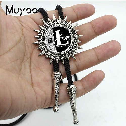 Litecoin Bolo Necktie | Gray and Black | 5 Different Styles Available!
