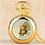 Thumbnail: Bitcoin Design Quartz Pocket Watch   Numerals Display   Pendant