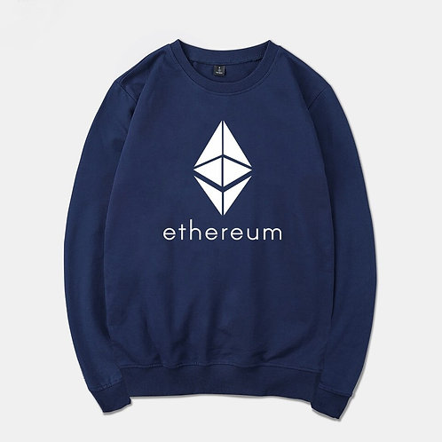 Ethereum Man to Man | Men's or Women's | Long Sleeve Sweatshirt | ETH Logo