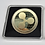 Thumbnail: 40mm Gold Bitcoin Coin | Acrylic Square Case | BTC LTC ETH XRP DASH | Metal Coin