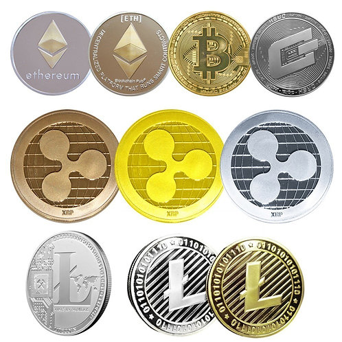 Commemorative Coins | Collectibles | Bitcoin/Ethereum/Litecoin/Dash/Ripple/XRP