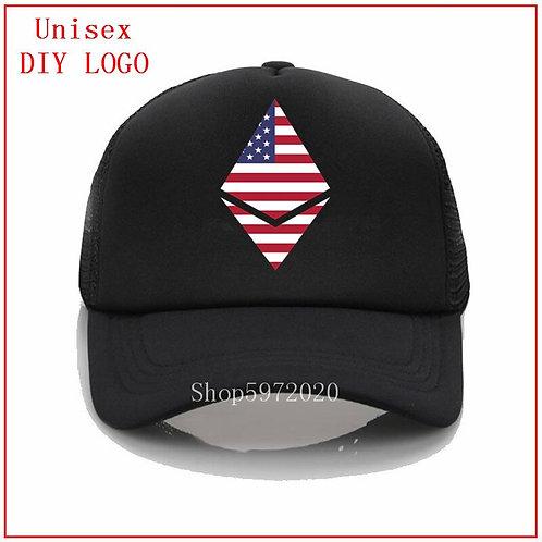 Ethereum USA Logo Hat | Baseball Hat | Adult & Kid Size | Trucker Hat | Snapback