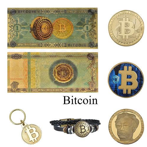 One Bitcoin Gold Banknotes | Silk Road BTC | Satoshi BTC | Fake Paper Money