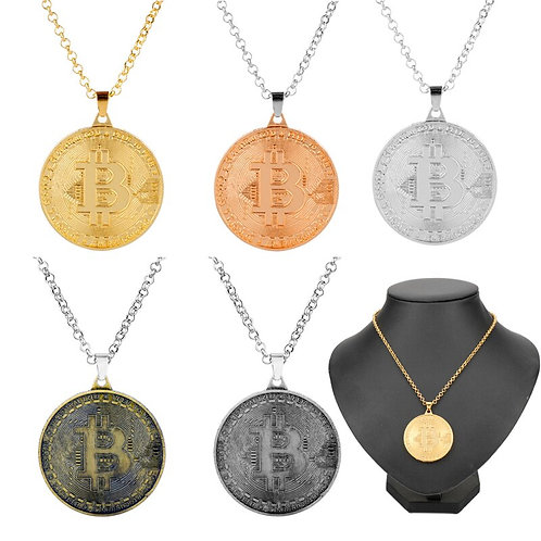 Creative Bitcoin Gold Medal Necklace | Pendant Necklaces | Gold, Silver & Bronze