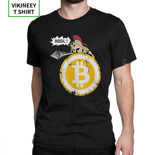 HODL Your Cryptos T-Shirt | Bitcoin | Comfy Cotton | Short Sleeves
