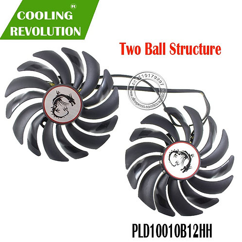 2 Piece Set | Cooler Fans | RX580 RX480 Video Card Cooling Fan for Radeon