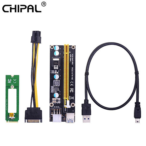 NGFF M.2 M Key to USB 3.0 | PCI-E Riser Card | M2 to USB3.0 | 16x to 1x Extender