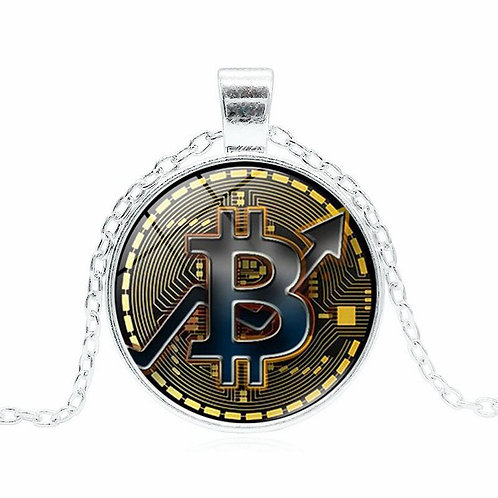 Bitcoin Necklace | Glass Pendant Chain | Simple and Elegant