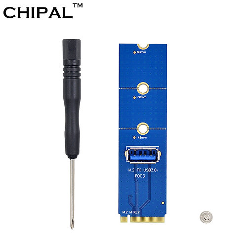 CHIPAL | NGFF M.2 to USB 3.0 Transfer Card | Adapter for PCI-E Riser Card