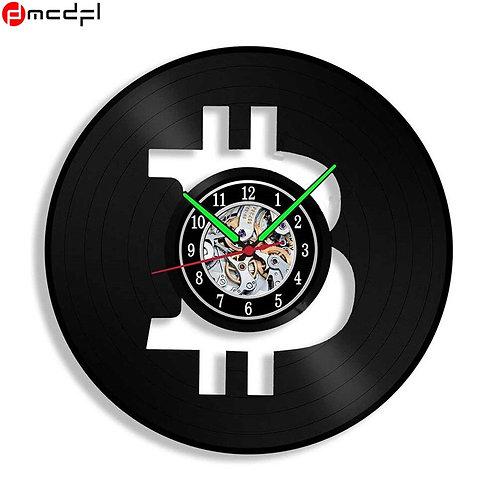 Vinyl LP Record Wall Clock | BTC/XRP/LTC/ETH/XMR/USDT/MIOTA/NEM/BTS/STRAT