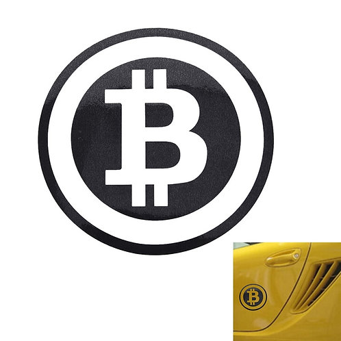 Large Bitcoin Car Sticker | Cryptocurrency Sticker | Window Decal | 6.3 x 6.3""